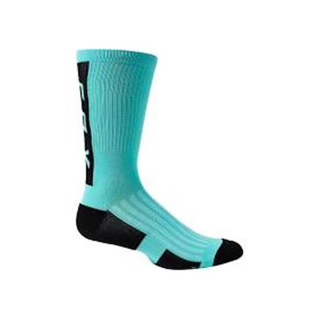"Fox Defend 8"" Sock Teal, Fox Socks, Fox MTB Clothing, Fox MTB Socks, MTB Socks, Fox Stockist, Fox Stockist Tweed Valley, Innerleithen, Peebles, Tweed Valley, Edinburgh, Glasgow, Newcastle, Manchester"