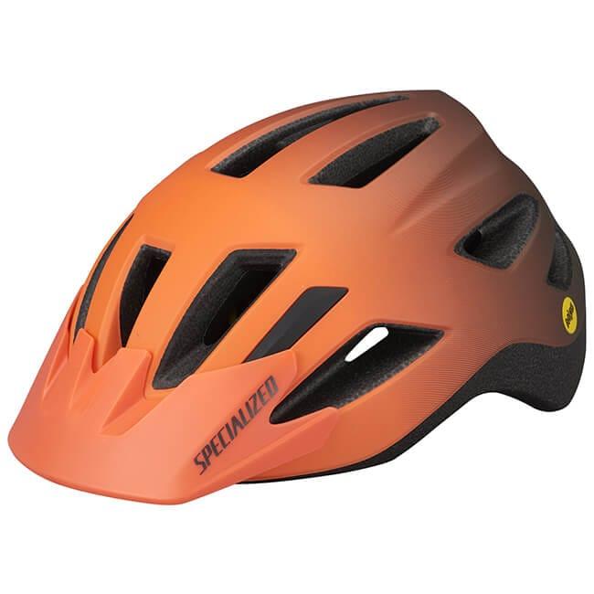 Specialized Shuffle Youth Helmet, Helmet, Youth Helmet, LED Light, Light up, Mips, Protection, Safety, Instock, Stockist, Orange, Innerleithen, Peebles, Edinburgh, Glasgow, Newcastle