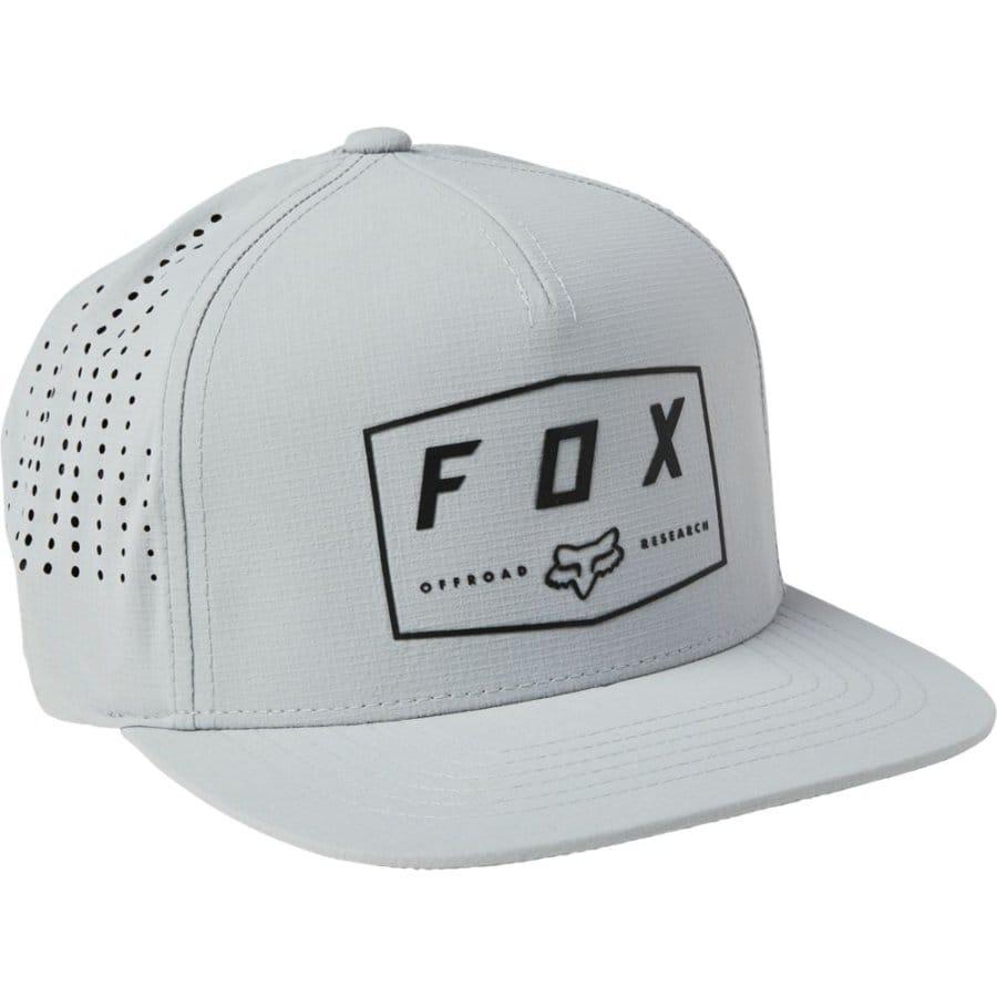 Fox Badge Snapback Grey, Fox Cap, Fox Snapback Innerleithen, Innerleithen, Peebles, Tweed Valley, Edinburgh, Glasgow, Newcastle, Manchester