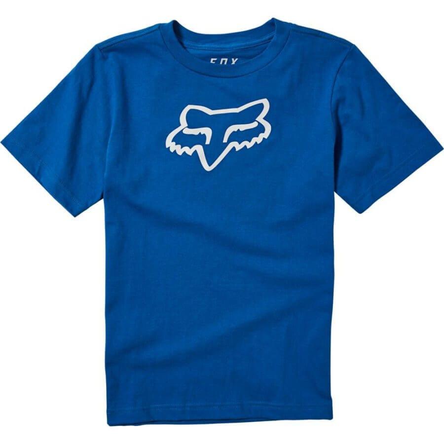 Fox Youth Legacy Short Sleeve Tee Royal Blue, Youth MTB Clothing, Kids MTB Clothing, Kids T-Shirt, Innerleithen, Peebles, Tweed Valley, Edinburgh, Glasgow, Newcastle, Edinburgh, Manchester