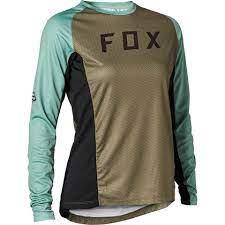Fox Women Defend Long Sleeve Jersey Olive Green, Fox Jersey, Women MTB Jersey, MTB Jersey, MTB Jersey Innerleithen, Innerleithen, Peebles, Tweed Valley, Edinburgh, Glasgow, Newcastle, Manchester